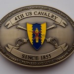 Custom 4th US Cavalry Belt Buckle